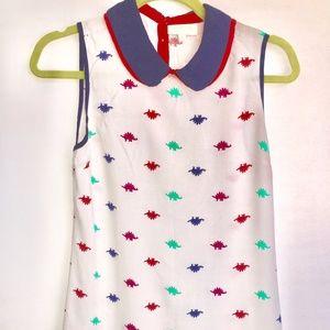 Cute Modcloth colourful Dinosaur Tank top.
